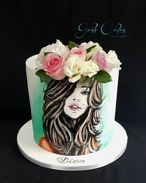 Hand painted face  - Cake by GoshCakes