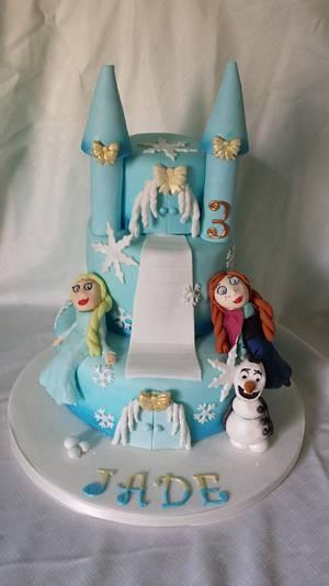 Princess Frozen Castle - Cake by JojosCupcakeMadness