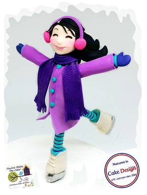 Violet Ice Skater From Frostington! - Cake by Pauline Soo (Polly) - Pauline Bakes The Cake!