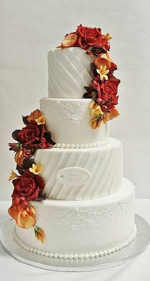 Wedding cake - Cake by Sannas tårtor