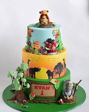 Lion King theme cake - Cake by Cakes for mates