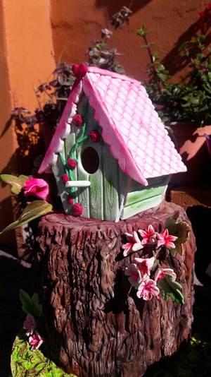 BIRD HOUSE CAKE - Cake by MARCELA CORCA