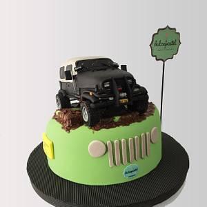 Torta Jeep Wrangler 1987 Cake  - Cake by Dulcepastel.com