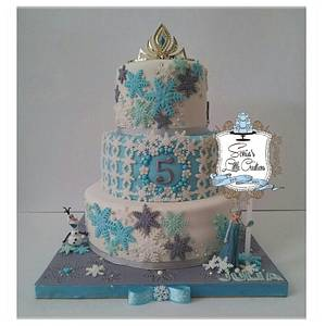 Frozen - Cake by Sonias Little Creations