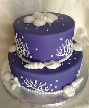Blue wedding cake - Cake by Irina Vakhromkina