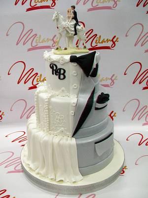 """WEDDING CAKE """"TORTA DE BODAS"""" - Cake by SONIA PORCÚ"""