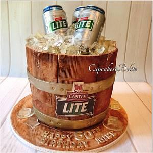 Beer Barrel Cake - Cake by Cupcakes2Delite