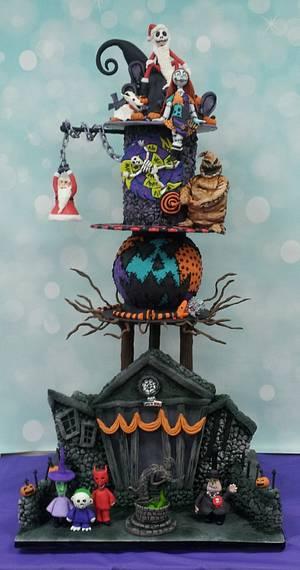Nightmare before Christmas - Cake by cakemomma1979