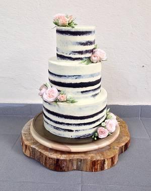 Romantic Naked Cake - Cake by Luckapece