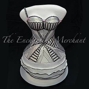 Agent Provocateur inspired bustier cake - Cake by Enchanting Merchant Company
