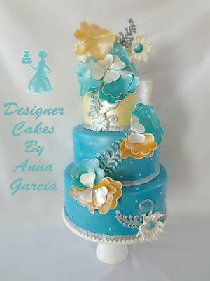 Vihaan Elegant Indian Collaboration - Cake by Designer Cakes by Anna Garcia