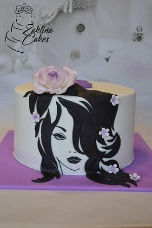 Girl with flowers - Cake by Zaklina