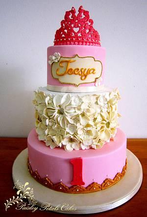 Elegant Princess Ruffle Cake - Cake by Paisley Petals Cakes