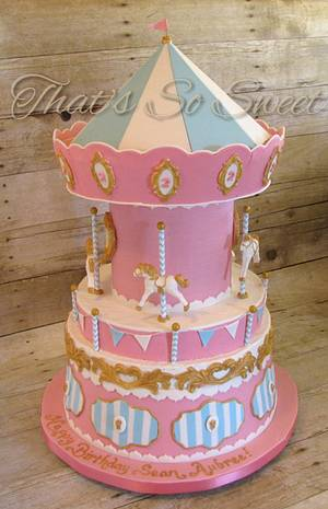 Candy Carousel - Cake by Misty Moody