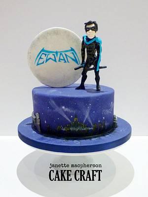 Superhero Nightwing Cake - Cake by Janette MacPherson Cake Craft