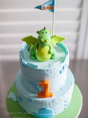 Dragon / Castle Birthday Cake - Cake by Heidi