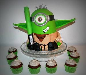 Yoda minion - Cake by Cakekado