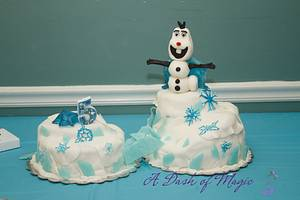 Olaf on a Mountain - Cake by A Dash of Magic