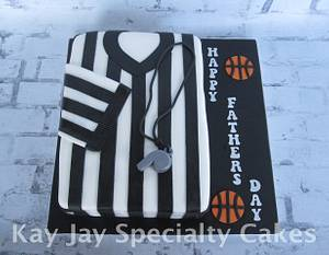 Basketball Referee Father's Day Cake - Cake by Kimberley Jemmott