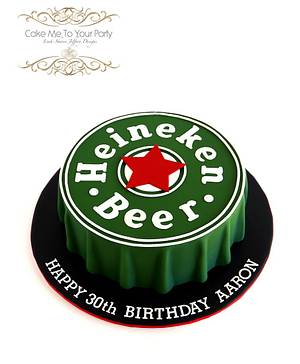 Heineken Beer Cap Cake - Cake by Leah Jeffery- Cake Me To Your Party