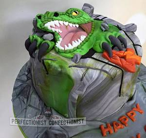 Charlie - Dinosaur Cake  - Cake by Niamh Geraghty, Perfectionist Confectionist