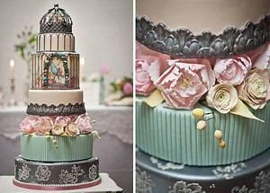 Elaborate Birdcage Wedding Cake with Sugar Peonies - Cake by Suzanne Moloney