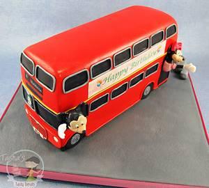London Bus Birthday Cake - Cake by Natasha Shomali