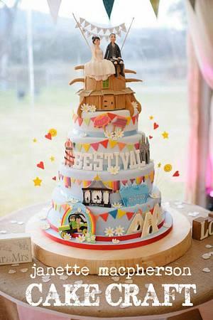 Bestival Wedding Cake - Cake by Janette MacPherson Cake Craft
