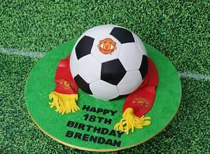 Manchester United soccer - Cake by Trickycakes