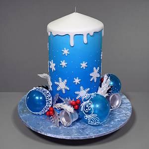 3D Christmas Candle Cake - Cake by Serdar Yener   Yeners Way - Cake Art Tutorials