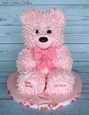 Teddy for Erin - Cake by Julie Cain