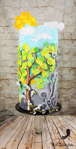 Acts of Green-UNSA 2016 collaboration - Save the Bees - Save the World! - Cake by Artym