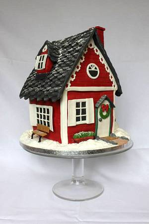 Christmas Cake - Welcome to our house! - Cake by Artym
