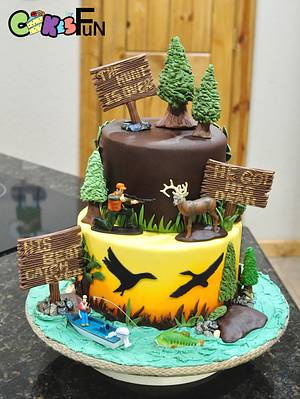 Hunting Themed Grooms Cake - Cake by Cakes For Fun