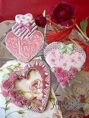 Valentine Hearts - Cake by Tina Tsourtsoulas
