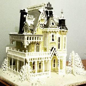 Gingerbread house challenge collaboration - art nouveau gingerbread mansion - Cake by Natasha Ananyeva (CakeVirtuoso Studio)