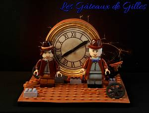 Back to the Future Clock scene in Lego - Cake by Gilles Leblanc