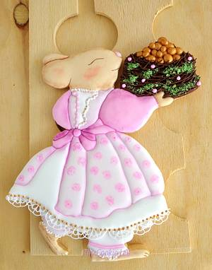 Mom Rabbit! New Season, new dress, new cake! - Cake by The Cookie Lab  by Marta Torres