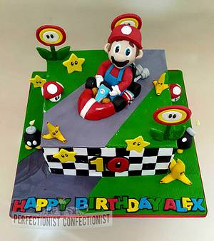 Alex - Mario Kart Birthday Cake - Cake by Niamh Geraghty, Perfectionist Confectionist