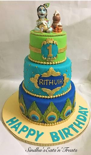 Baby Krishna cake - Cake by Sindhu's Eats'n'Treats