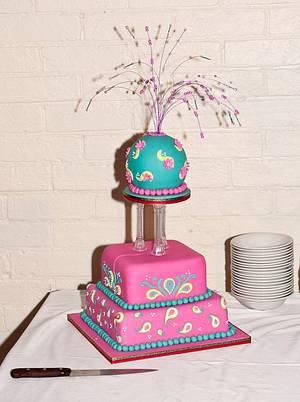 A Bollywood Evening - Cake by SueC