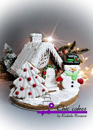 Gingerbread houses- small - Cake by Radmila