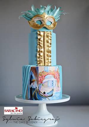 Venetian Carnival Collaboration  - Cake by Sylwia Sobiegraj The Cake Designer