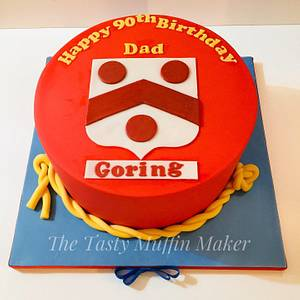 Goring coat of arms - Cake by Andrea