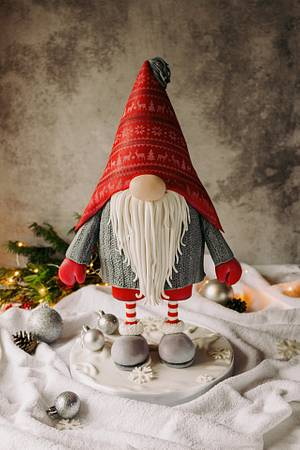 Christmas gnome - Cake by Dmytrii Puga