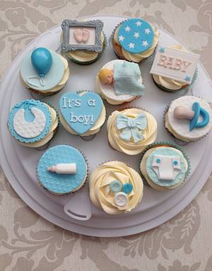Baby shower cupcakes - Cake by Gaynor's Cake Creations