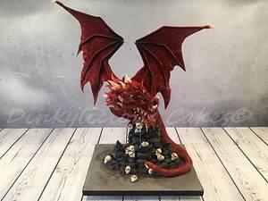 Chocolate Dragon  - Cake by Dinkylicious Cakes