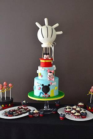 The Sugar Nursery's Mickey and Mini Mouse Sweet Table - Cake by The Sugar Nursery - Cake Shop & Imaginarium
