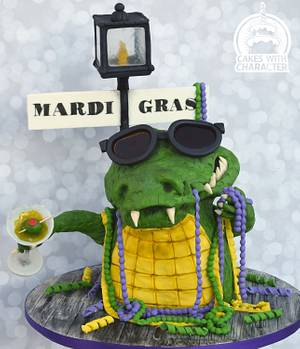 Carnival Cakers Alligator party! - Cake by Jean A. Schapowal