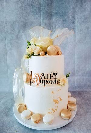 Christening cake  - Cake by alenascakes